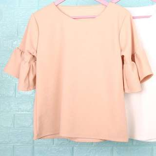 Peach Blouse/Top w/ Ruffles