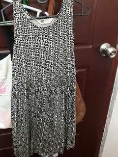 HnM tribal design flowy dress
