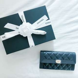 CHANEL Boy Long Wallet