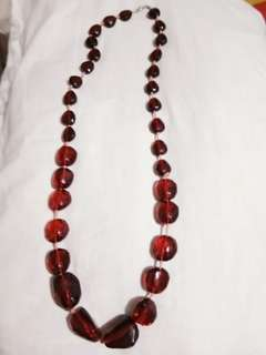 Red crystal like necklace Japan