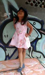 Haura Flowery Dress Anak