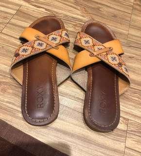 🚚 Roxy 皮革拖鞋 峇里島波西米亞 海島度假⛱️