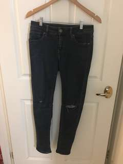 G-STAR 3301 ripped skinny jeggings jeans