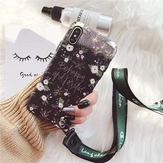 floral iphone 6/6p/7/7p/8/8p/X phone case