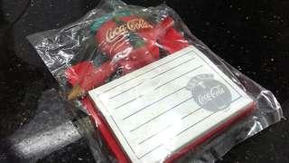 (全新)Coca-Cola 可樂磁石貼連 memo紙連筆套裝