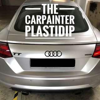 Audi TT Emblem Plastidip Spray Service Plasti Dip