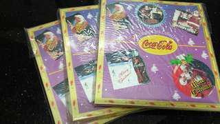 (全新)Coca-Cola 原裝可樂懷舊款式-聖誕卡套裝($10一個)