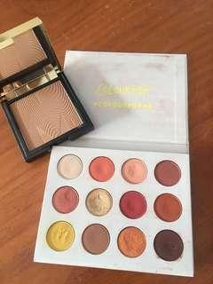 Color pop pallet 'yes please' Mecca Bronzer 'sunlight skin'