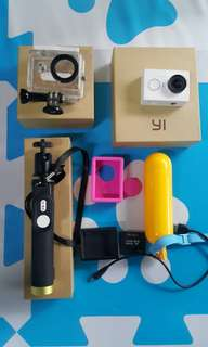 Complete Xiaomi Yi Action Camera with accesories