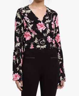 Cotton On Wrap Top - Flowery
