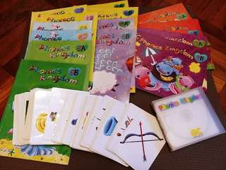 GC phonics kingdom, level 1-7 books, CD and VCD, 150 cards