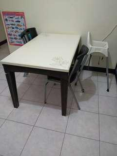 二手餐桌仿大理石豪華餐桌