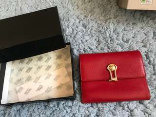 Versace red leather wallet