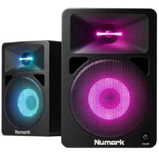 Numark Dj monitor LED speakers