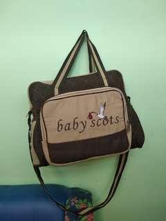 Preloved Tas Bayi Baby Scot Coklat Besar
