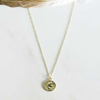 Minimalist gold coin necklace