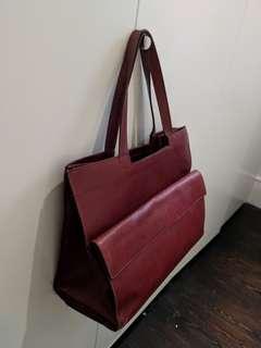 Leather maroon bag