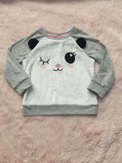 BNEW H&M pluffy Dog sweater jacket  2T