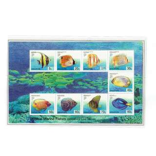 2001 03 Miniature Sheet Definitive Series Tropical Marine Fishes