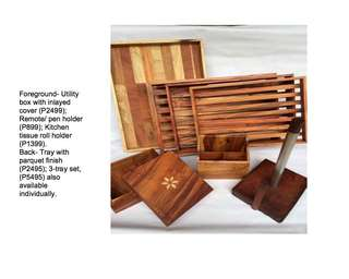 Handcrafted Woodwork (Pinewood & Narra)