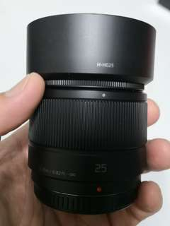 Panasonic m43 ~ 25mm f1.7 prime lens