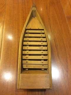 日本昭和職人手工木船