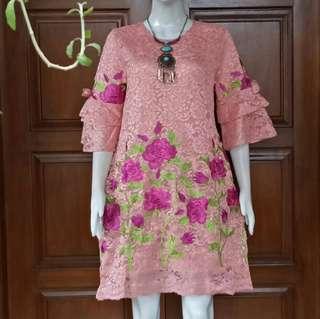 Dress brokat bangkok impor