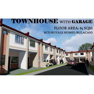 TOWNHOUSE WITH GARAGE - RCD Royale Homes, Bulacan (P 7,540.57 monthly-PAGIBIG)