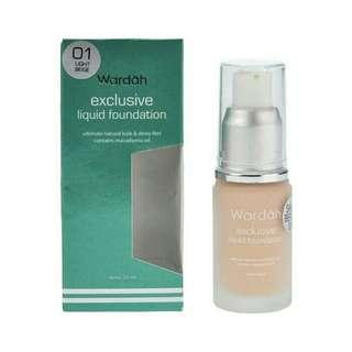 Wardah Foundation liquid light beige