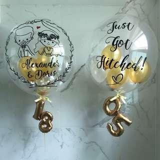 Customised balloon for wedding