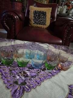 Gelas jadoul kristal tipis ringan sekali ada 11 pc