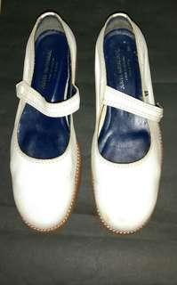 日本名牌Comme des garcons副屬線junya watanabe米白色厚底搭帶鞋 中性款