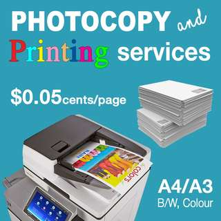 PHOTOCOPY and PRINTING SERVICES