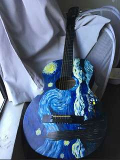 The Starry Night Acoustic Guitar