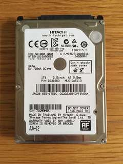 Hitachi 1TB HDD 2.5 inch