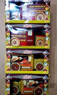 全新可口可樂鐵皮車儲物盒共四佃