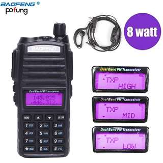 🚚 Baofeng UV-82Plus 8W Long Range Powerful Walkie Talkie Portable CB vhf/uhf two way Radio Amateur 8 watts of BF UV82 Plus