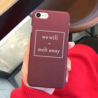We Will Melt Away (Wine Red) iPhone Case