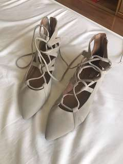 Wittner Suede Lace Up Flats