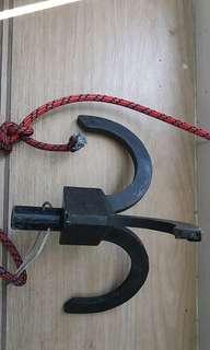 罕有碳纖維 三爪鉤 不包含 爬山繩