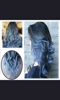 (PO) five colors hair wig..(Wh)