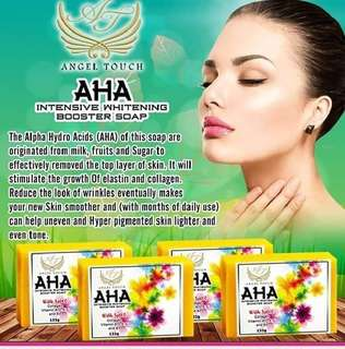 Aha intensive whitening booster soap