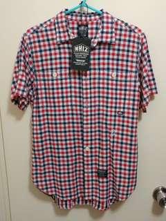 NHIZ Neighbourhood Izzue checked shirt 紅白藍 格仔 裇衫