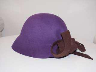 Ladies hat - Purple felt by Happy loves it London