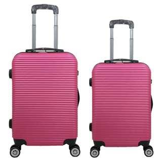 Tas Koper Polo Love - Fiber ABS 1 Set 20 & 24 Inch 801 Pink