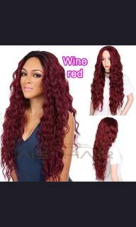 (PO) Long wavy wig..(Wh)