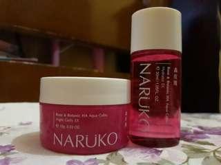 Naruko Rose HA Toner + Night Cream