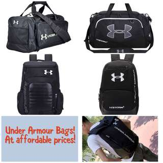 🚚 Under armour duffle bags and backpacks