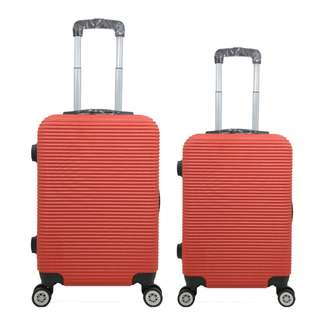 Tas Koper Polo Love - Fiber ABS 1 Set 20 & 24 Inch 801 Red