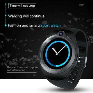 Android Smart Watch Phone- 5M Camera, Quad Core, GPS, Bluetooth, WiFi, 3G, 1.3 Inch Screen (Black) Or (Silver) (CVWY-W104-1+16GB)